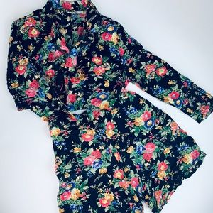 Other - 💰SALE 90s Vintage Floral Co-Ord Shorts and Jacket